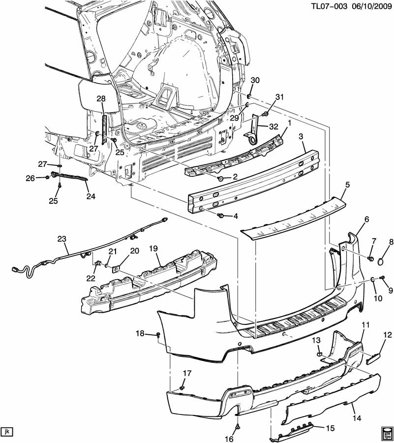 Gmc Terrain Bumper Parts Diagram. Gmc. Auto Wiring Diagram