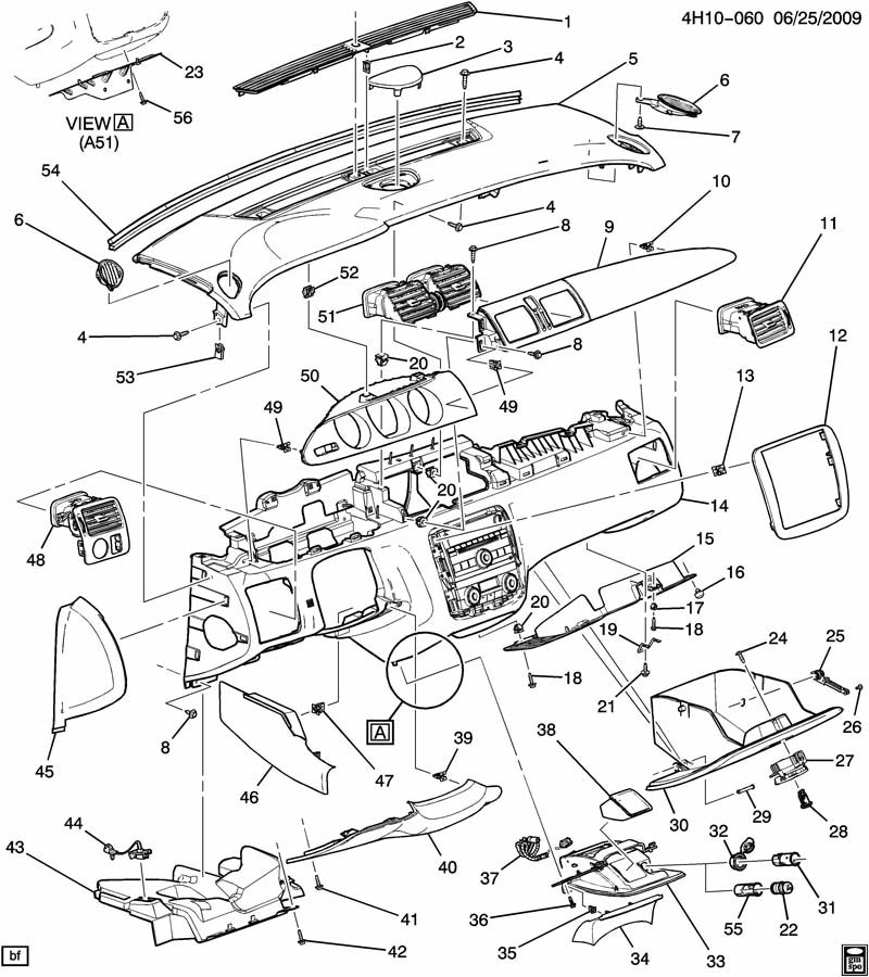 Buick Lucerne Retainer. Clip. Front door armrest. Radiator