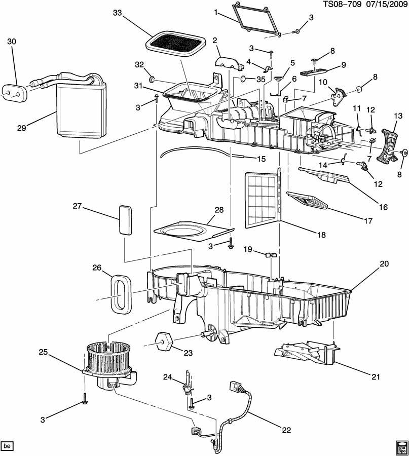 2004 Chevrolet COLORADO Hvac system wiring harness