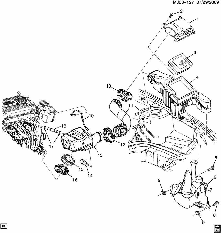 2002 Saturn Vue AIR INTAKE SYSTEM