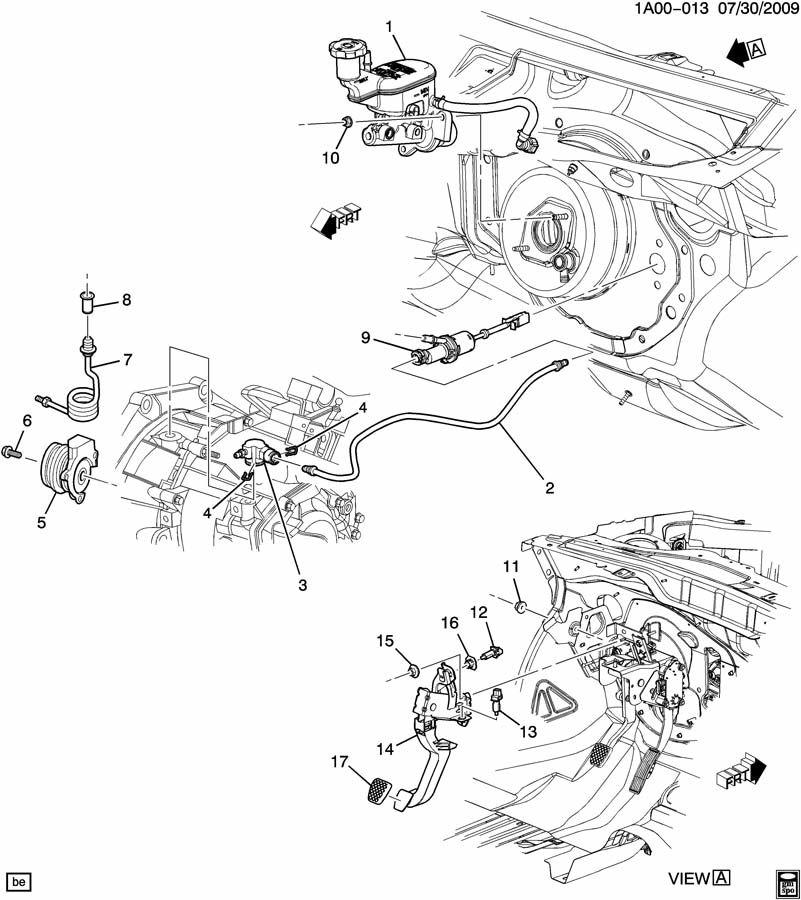 2007 Chevrolet Cobalt Clip. Hydraulic clutch reservoir