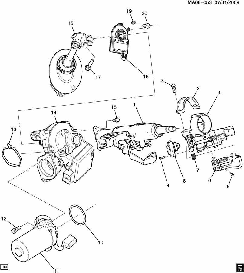 Chevrolet Cobalt Column kit. Steering. Column kit, strg