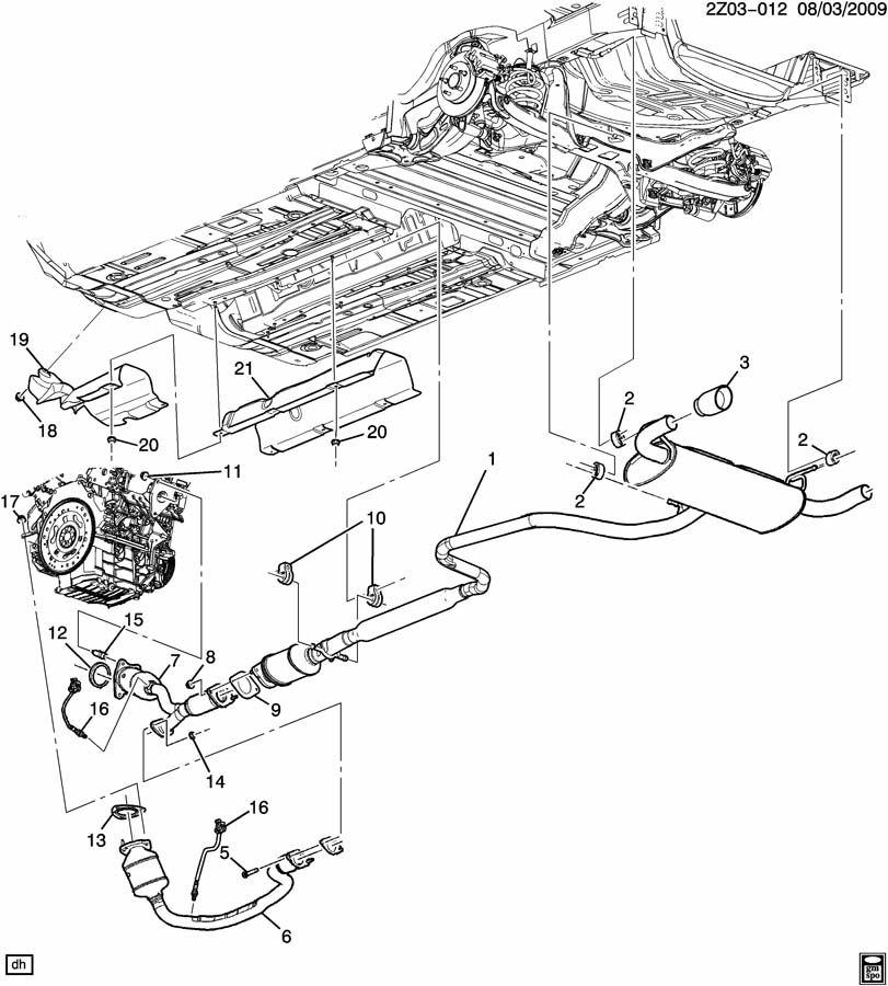 2006 Pontiac G6 Gasket. Pipe. Exhaust. Converter. 2.4