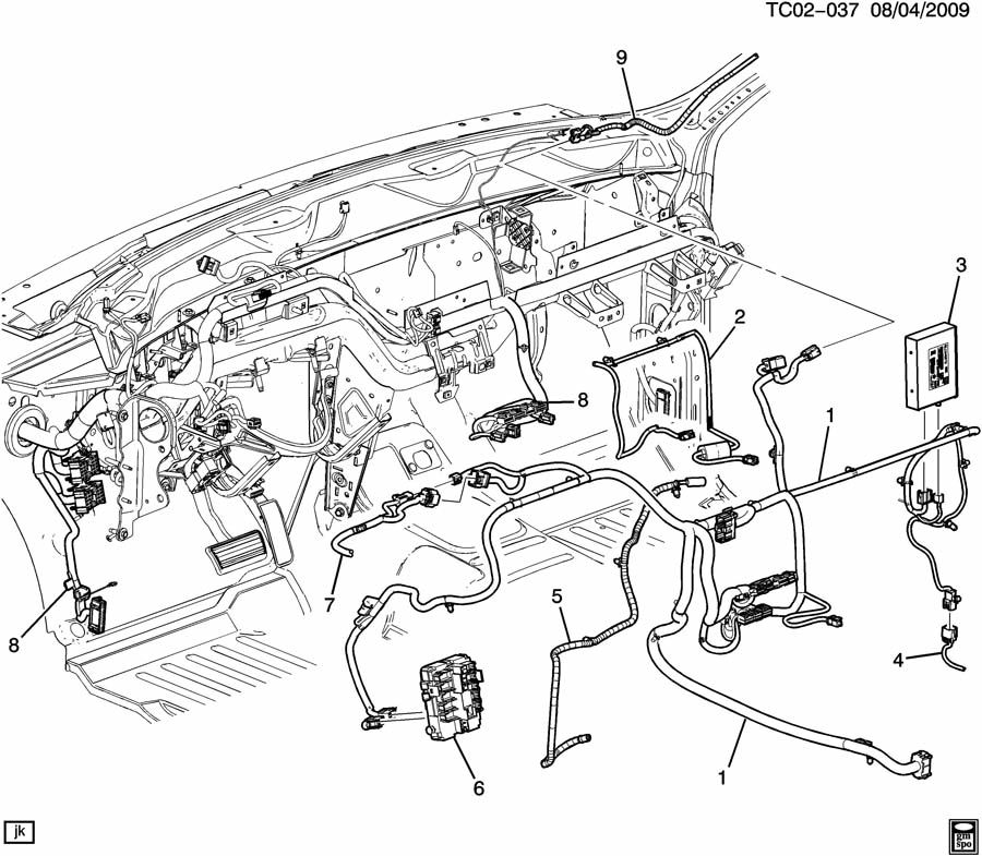 Chevrolet Silverado WIRING HARNESS/INSTRUMENT PANEL EXTENSION