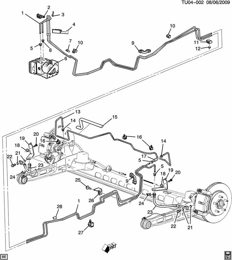 Chevrolet UPLANDER Pipe. Hydraulic brake. Pipe, rr brk
