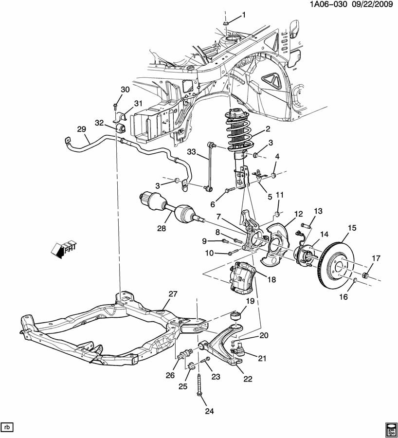 Pontiac G5 Arm. Steering knuckle upper & lower control