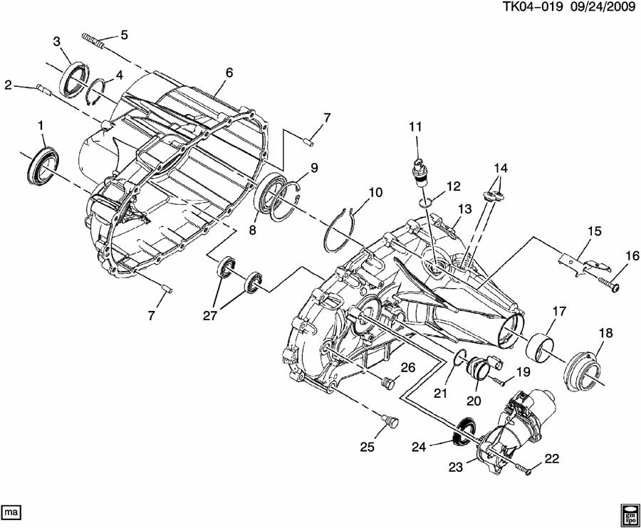 Chevrolet Silverado Sensor. Transfer case shift control