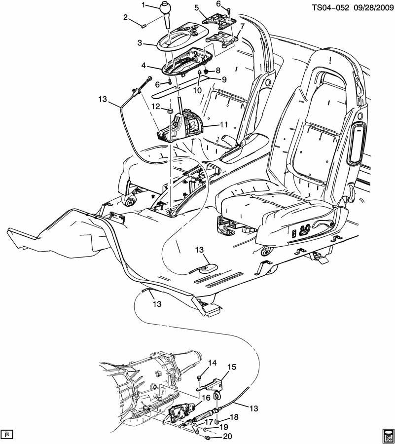 Chevrolet TRAILBLAZER Cable. Transmission shift control