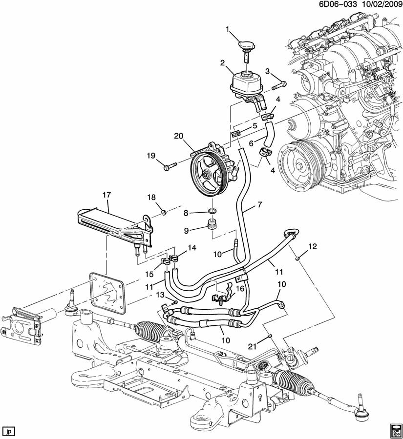 2007 Cadillac CTS V 4DR Reservoir. Steering pump