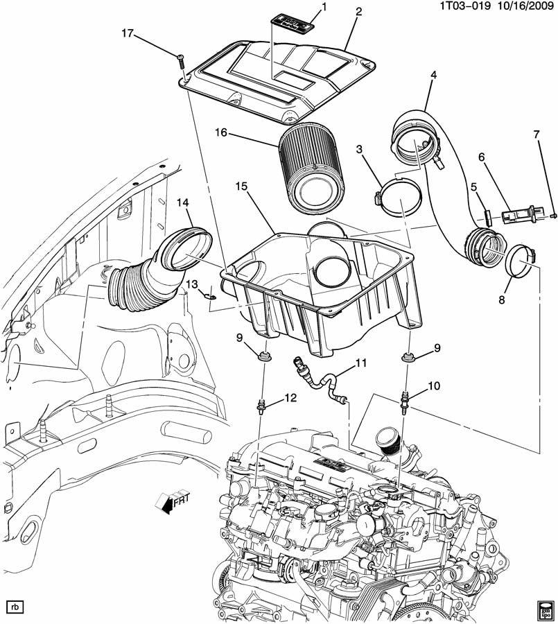 2008 Chevrolet HHR Hatchback Insulator. Air cleaner
