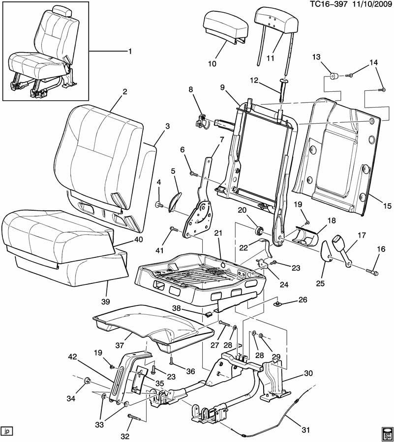 Chevrolet SUBURBAN Latch. Seat. Latch, r/seat(cushion