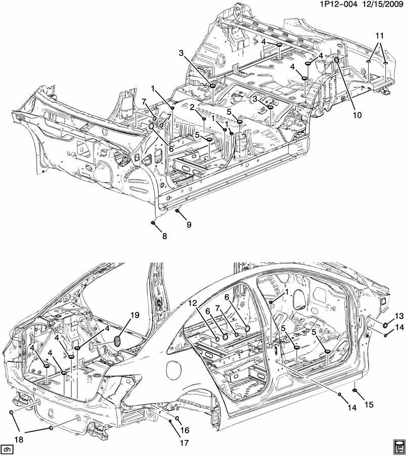 Chevrolet Impala Plug. (Rear). VERSCHLUSSSTOP. Wiring