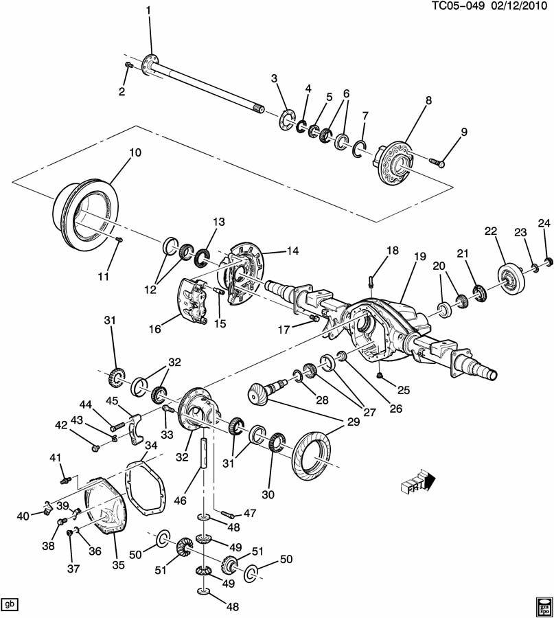 Chevrolet Silverado SS Differential Pinion Gear Thrust