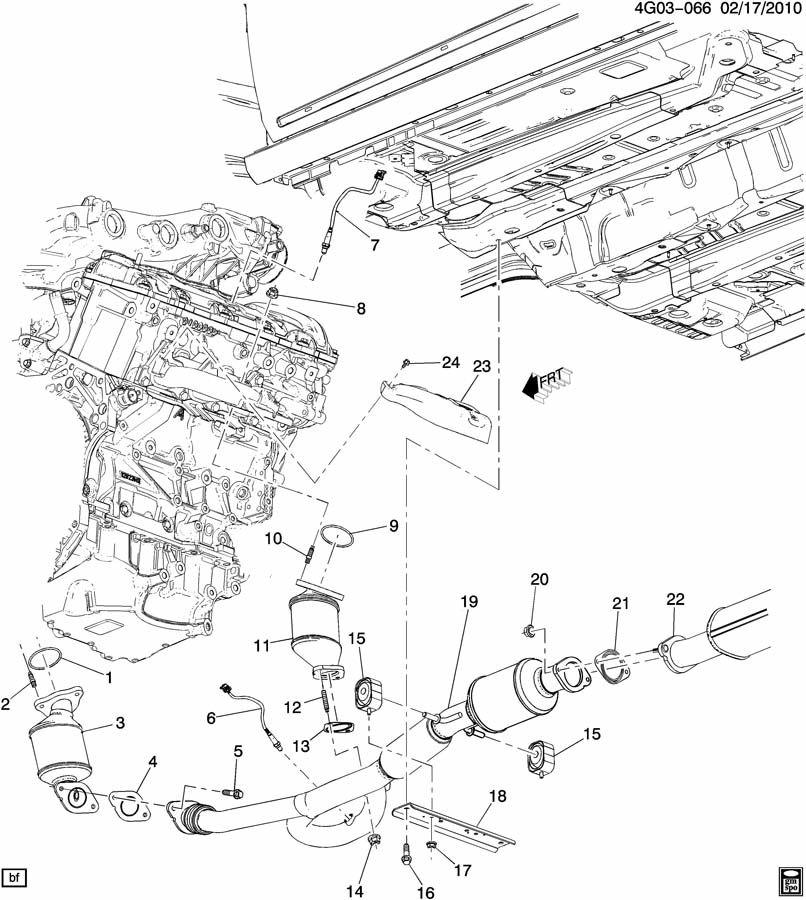Chevrolet Equinox Nut. Catalytic converter. Emission