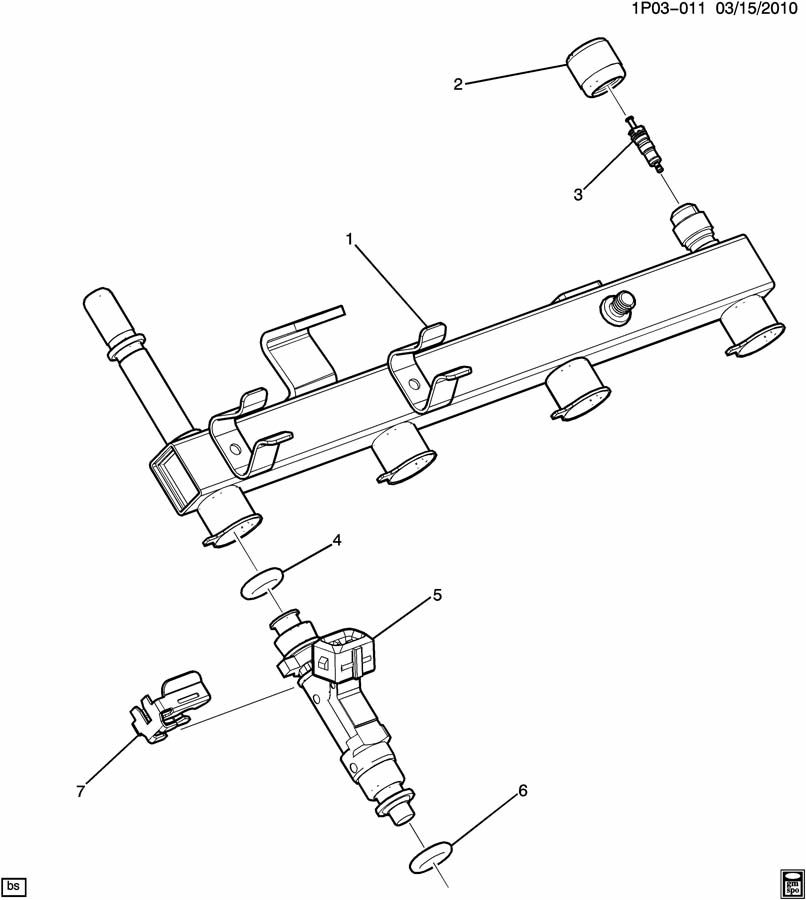 Chevrolet Cruze Rail. Fuel injection. Rail, m/port f/injn