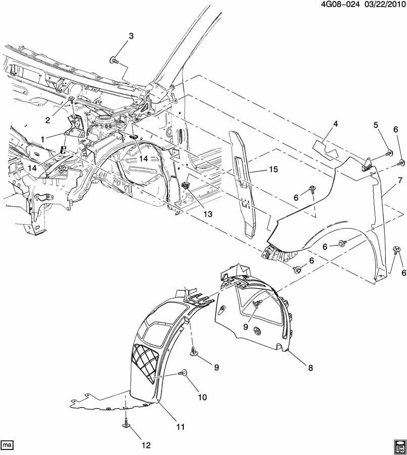 Chevrolet Cruze Bolt. Bumper/fascia. Bumper/fascia