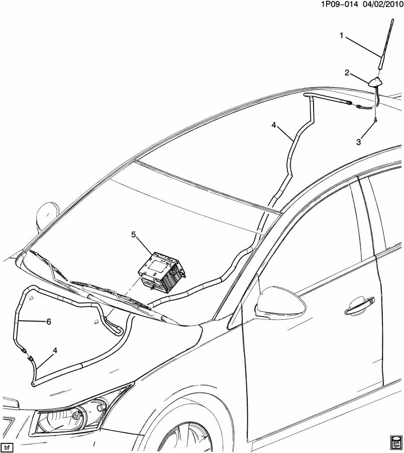 2011 Chevrolet Cruze ANTENNA/AUDIO