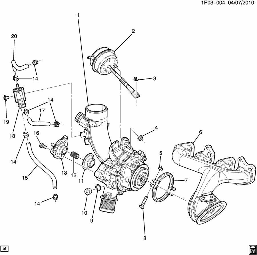 Chevrolet Cruze Valve kit. Turbocharger/supercharger