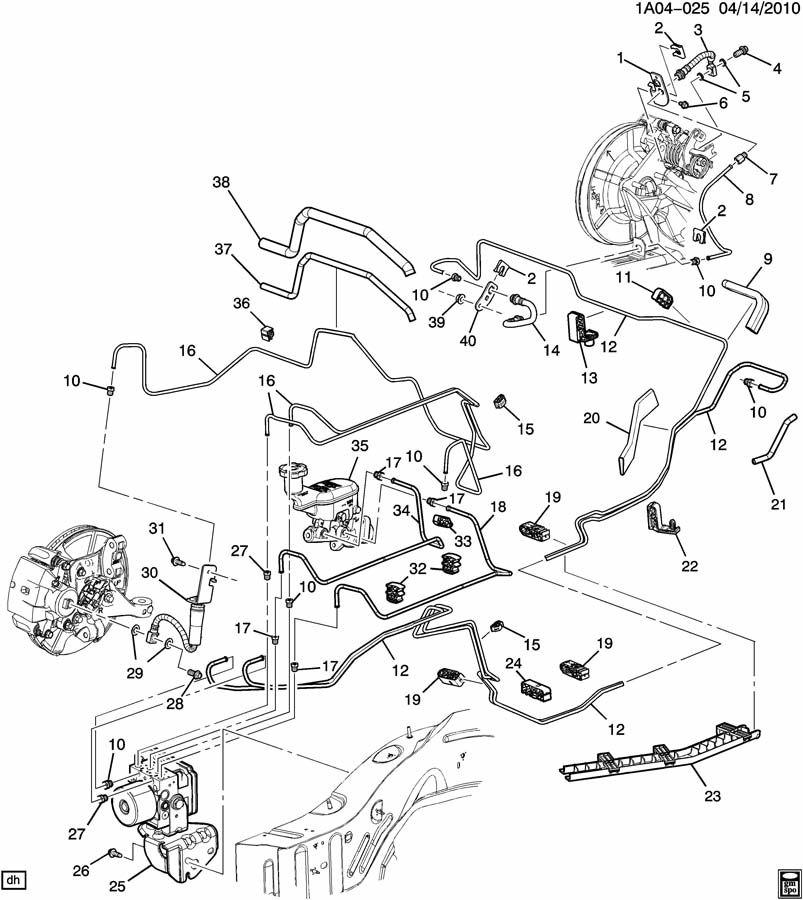 2010 Chevrolet Cobalt Pipe. Hydraulic brake. Pipe, frt brk