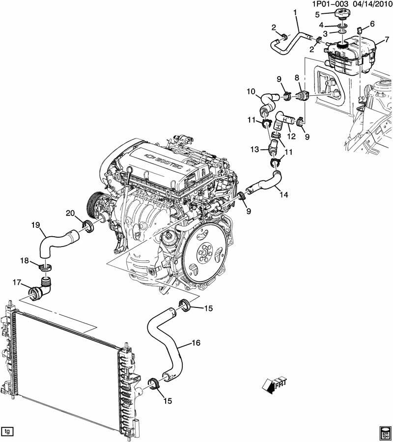 Chevrolet Cruze HOSES & PIPES/RADIATOR