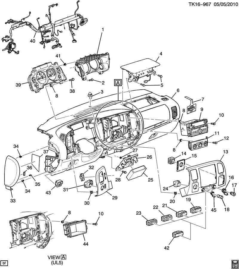 0636 instrument panel related parts part 2 electrical chevrolet