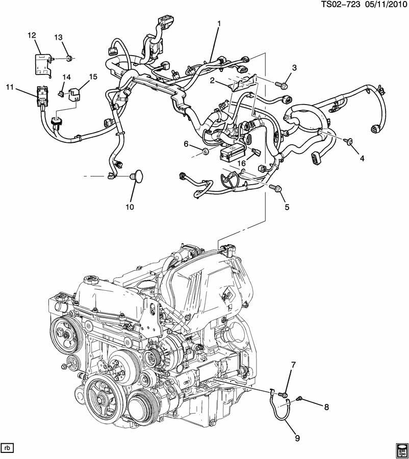 2011 Chevrolet COLORADO EXT CAB Harness. Engine wiring