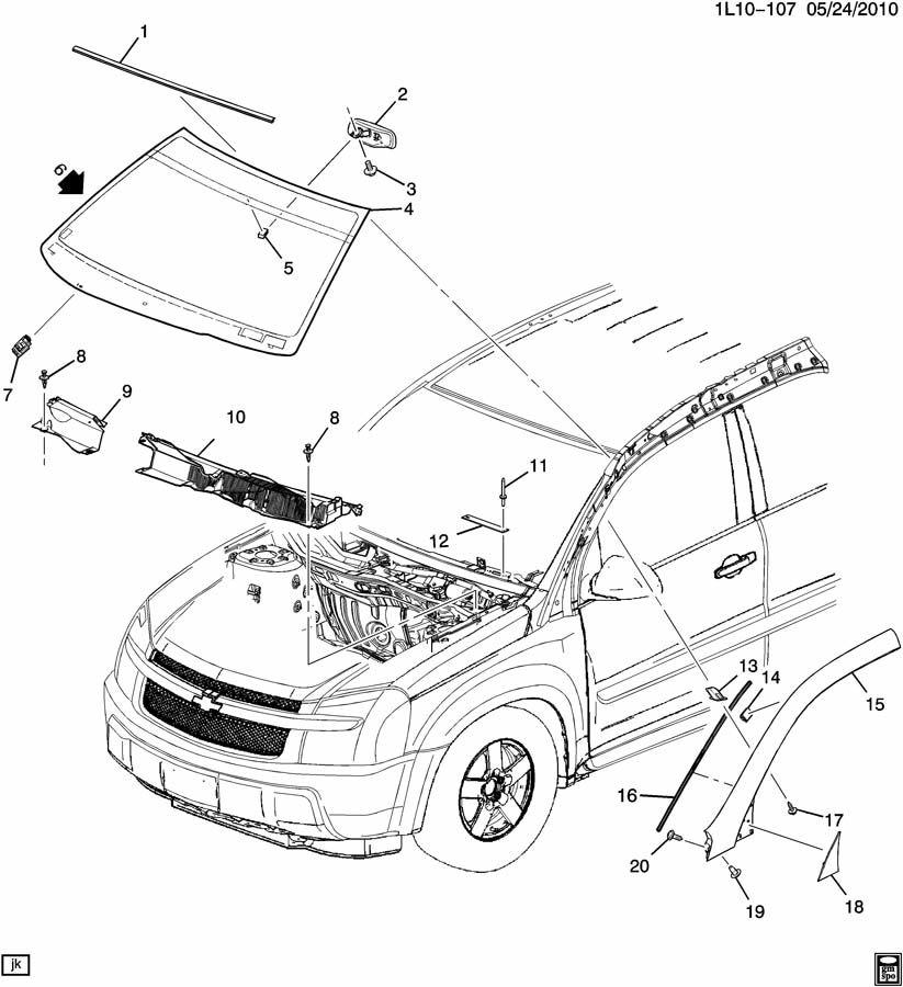 2005 Chevrolet Equinox WINDSHIELD TRIM & HARDWARE