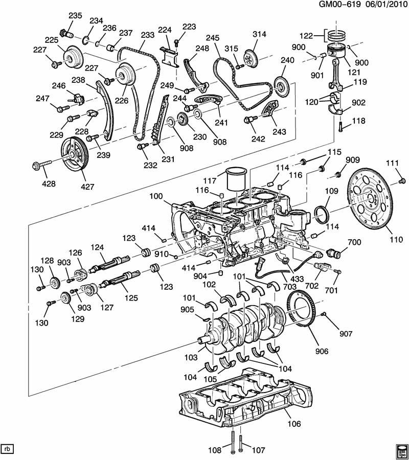 Chevrolet Equinox Key. Engine crankshaft/timing gear. Key