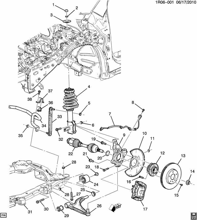 Chevrolet Volt Shaft. Front wheel drive axle. Shaft, frt