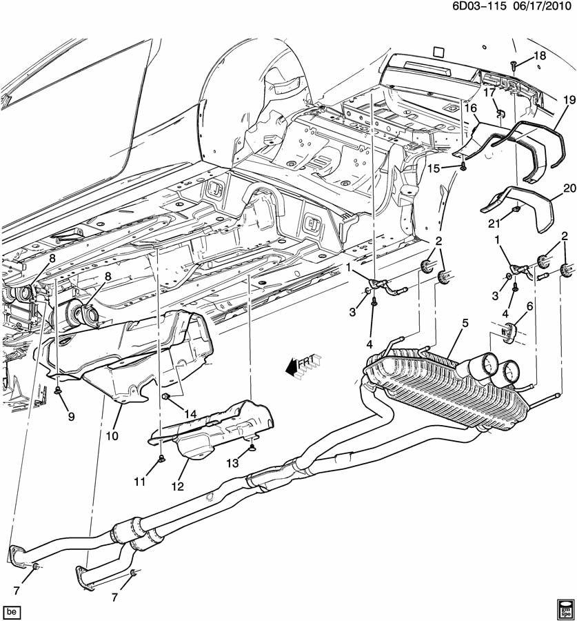 Cadillac SRX Insulator. Exhaust muffler/resonator