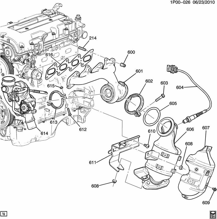 2011 chevy cruze 1.4 turbo engine diagram