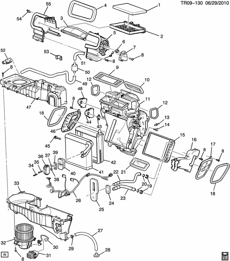 Chevrolet Traverse Motor. Air conditioning (a/c