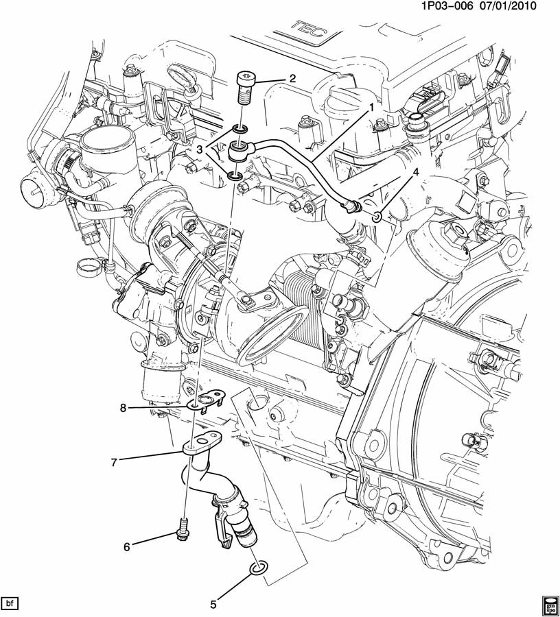 Chevrolet Cruze Seal. Turbocharger/supercharger air/vac