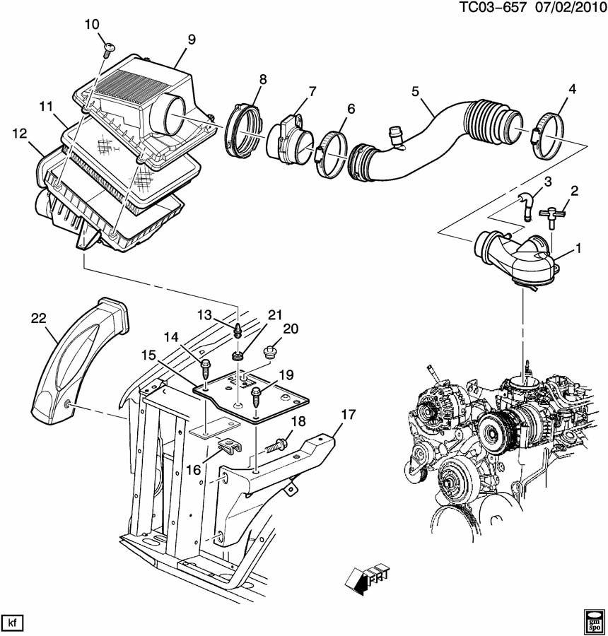 Chevrolet Impala Retainer. Air cleaner intake. Rivet. Air