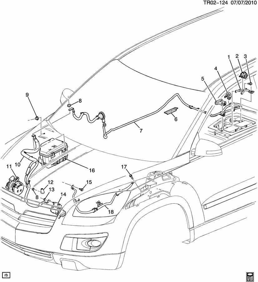 Buick Enclave Cable. Battery. (positive). Cable, bat pos