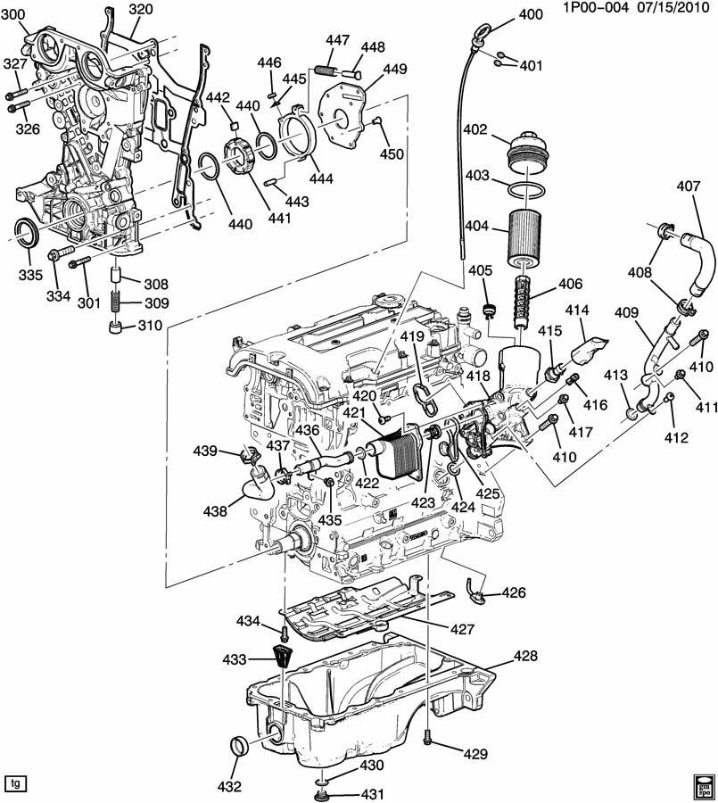 Chevrolet Cruze ENGINE ASM-1.4L L4 PART 4 OIL PUMP,PAN