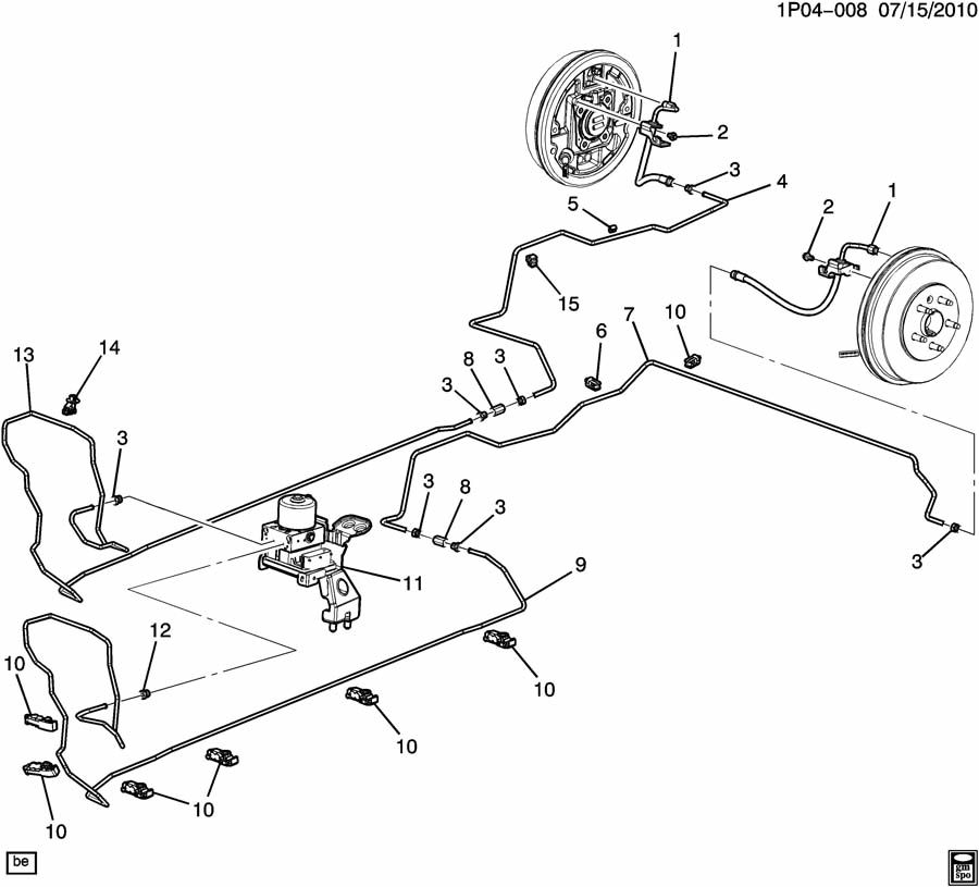 Chevrolet Cruze Valve kit. Electronic brake control. Valve