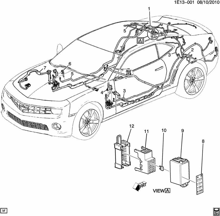 Chevrolet Silverado Main Wiring Junction and Fuse Block