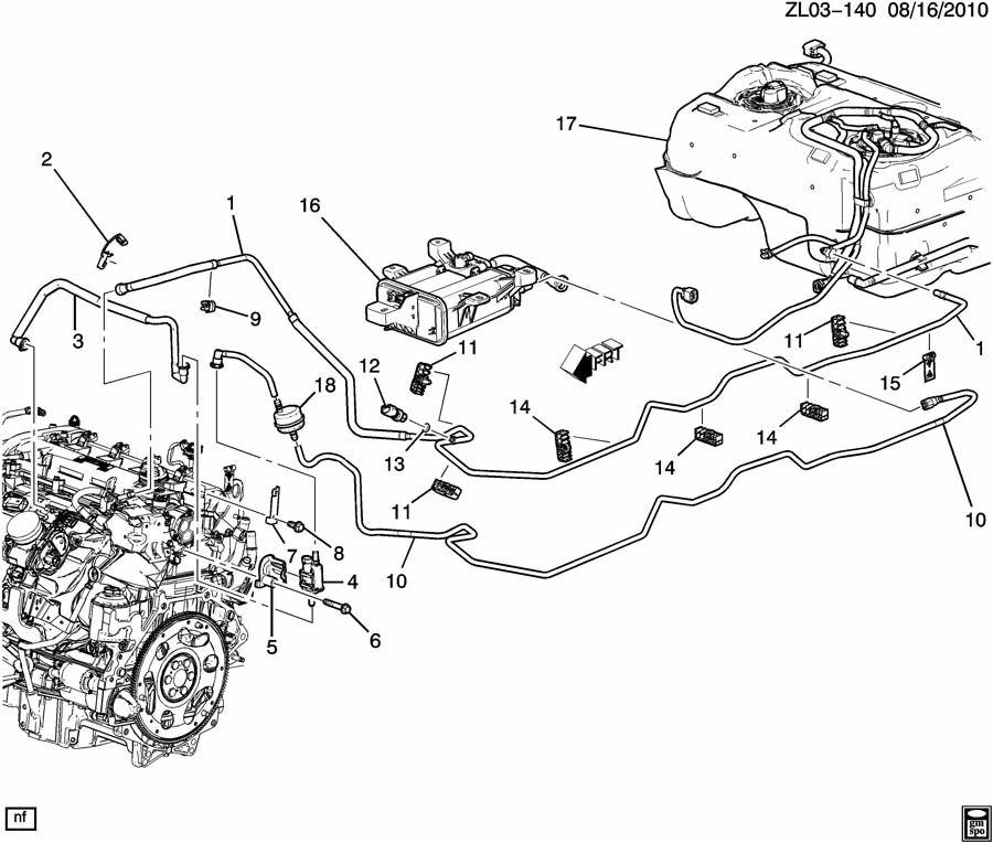 Chevrolet Silverado Fuel Line. CLIP. RETAINER