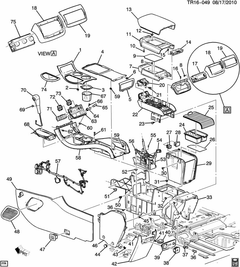 Chevrolet Traverse Harness. Chassis wiring. Harness, f/flr