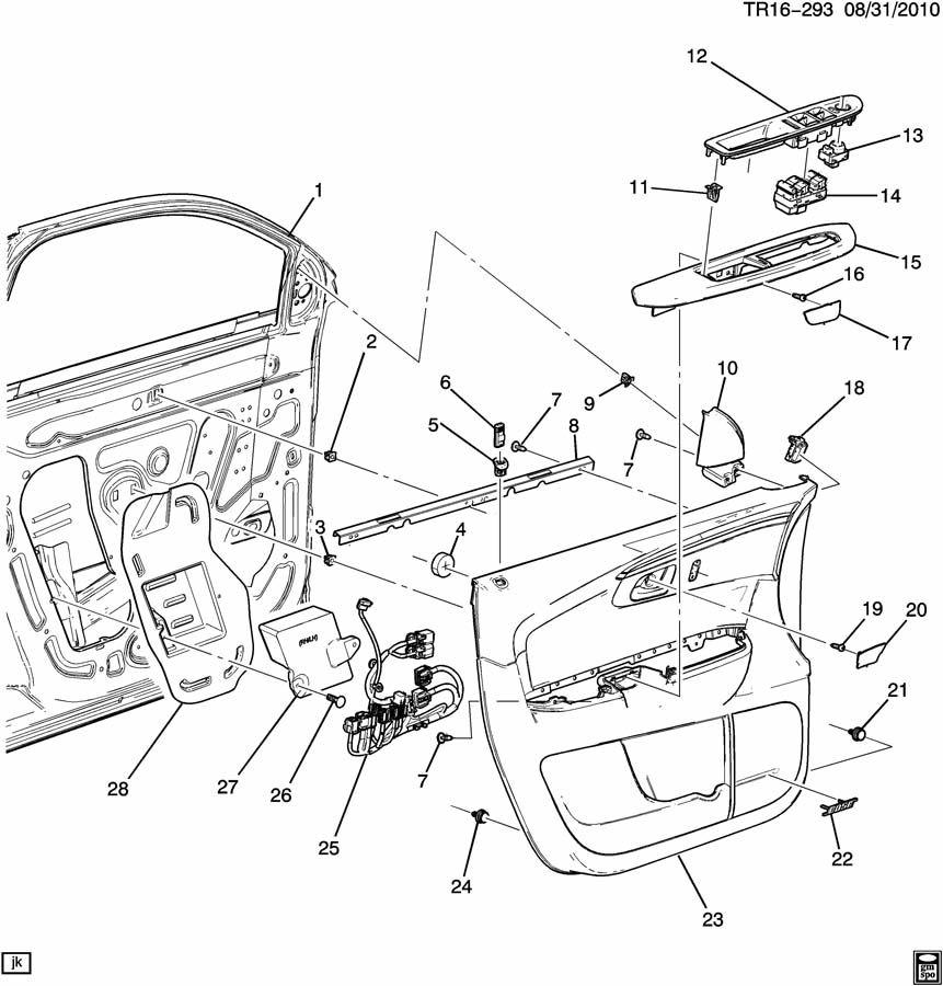 2010 Buick Enclave DOOR TRIM/SIDE FRONT-DRIVER