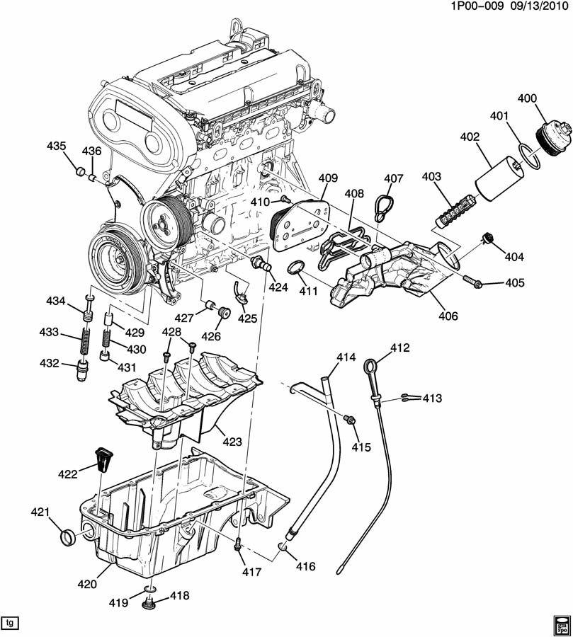 ENGINE ASM-1.8L L4 PART 4 OIL PUMP,PAN & RELATED PARTS