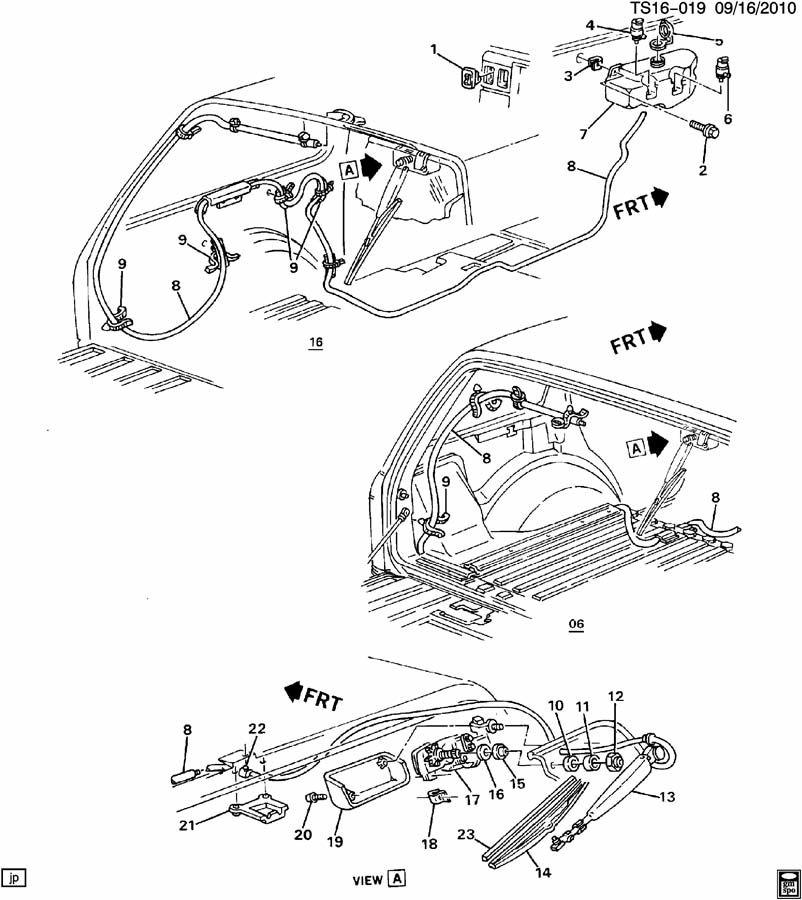 Chevrolet BLAZER Blade. Rear window wiper. Rear window