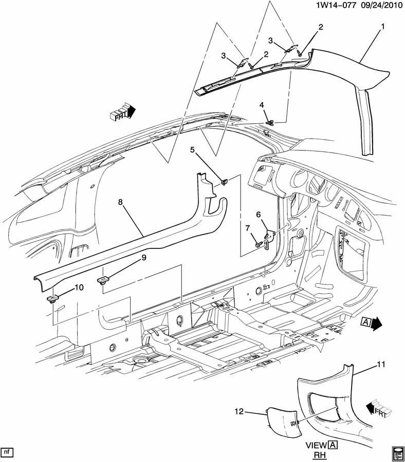Chevrolet Monte Carlo Clip. Windshield garnish molding
