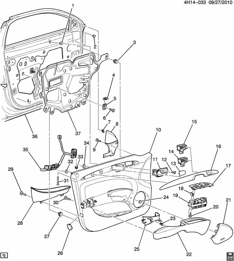 Buick Lucerne Retainer. Front door armrest. Rear side door