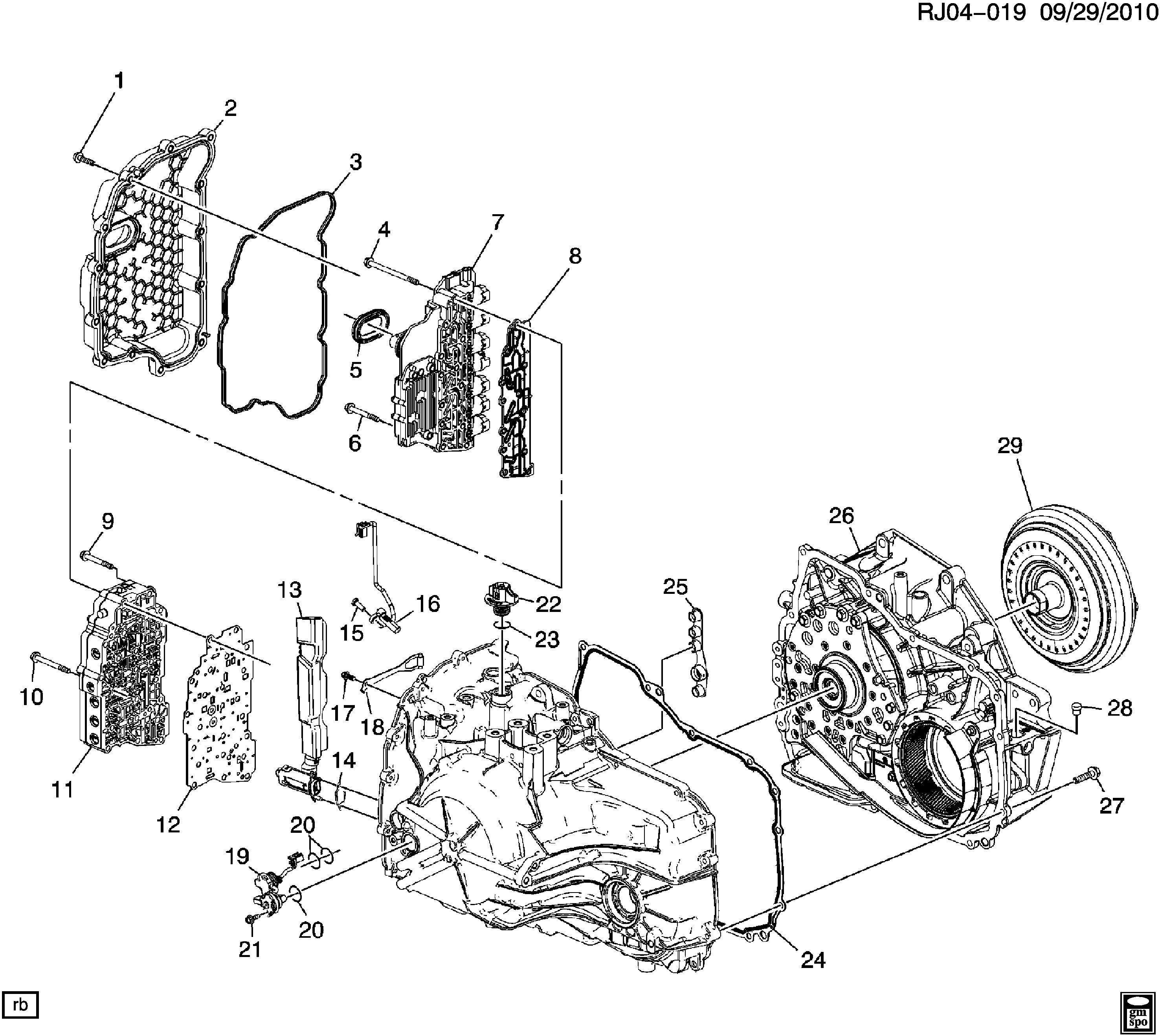 Chevrolet Captiva Valve. Transmission main control valve