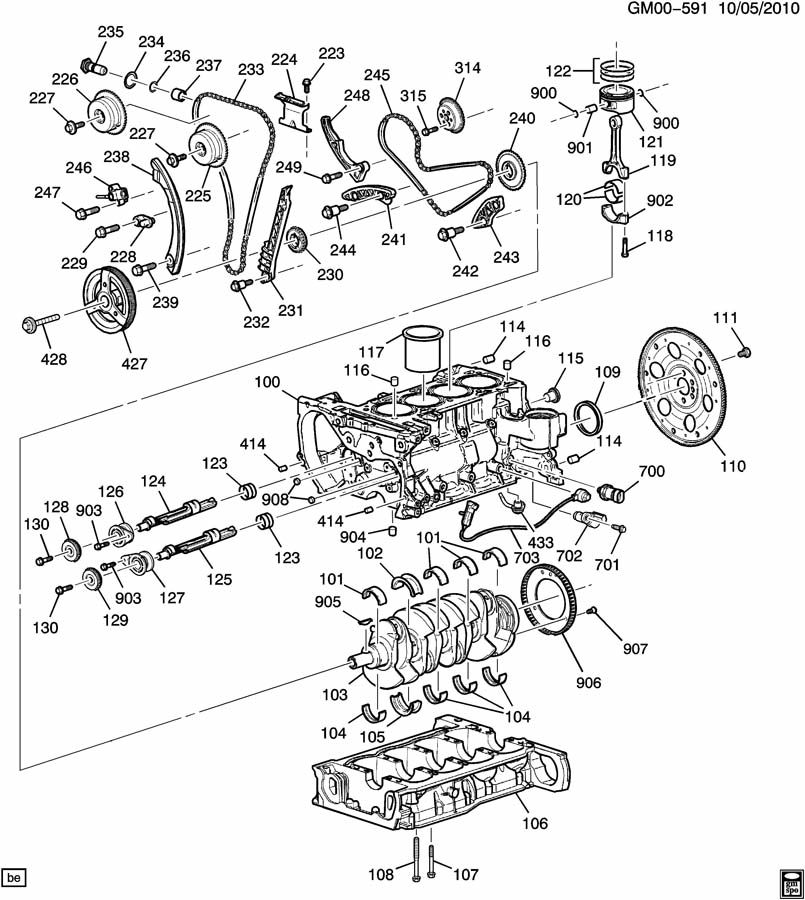 2012 Chevrolet Malibu Key. Engine crankshaft/timing gear