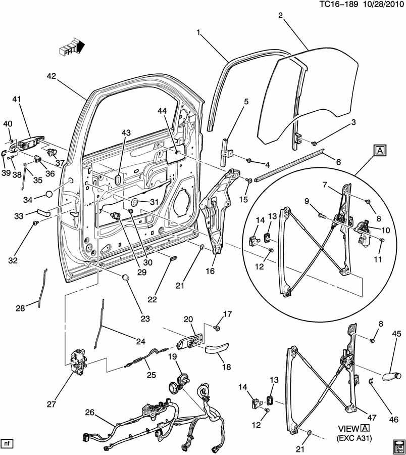 Chevrolet Silverado Harness. Door and end gate electrical