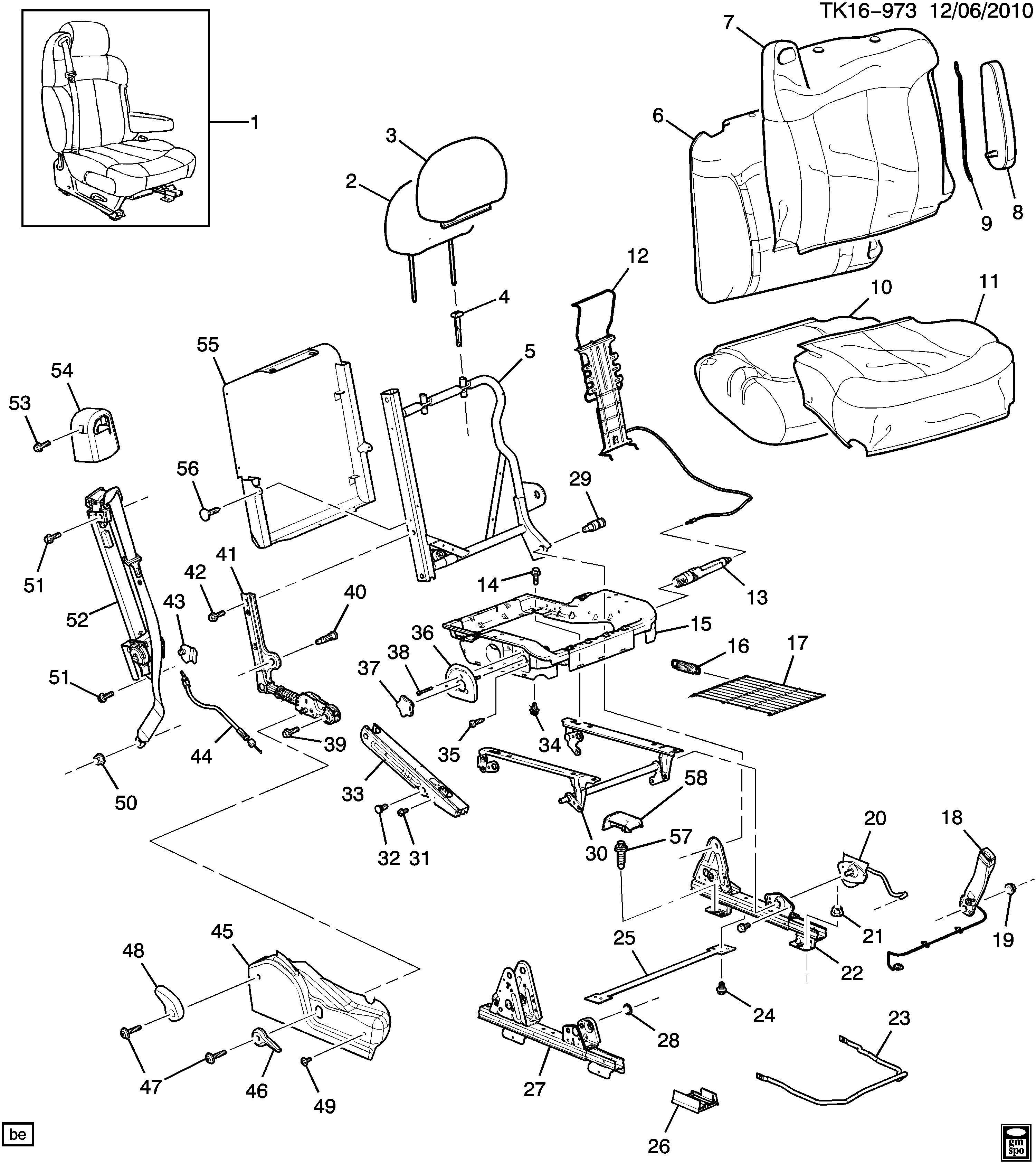 GMC Sierra Insulator. Seat adjuster/recliner. Insulator, p