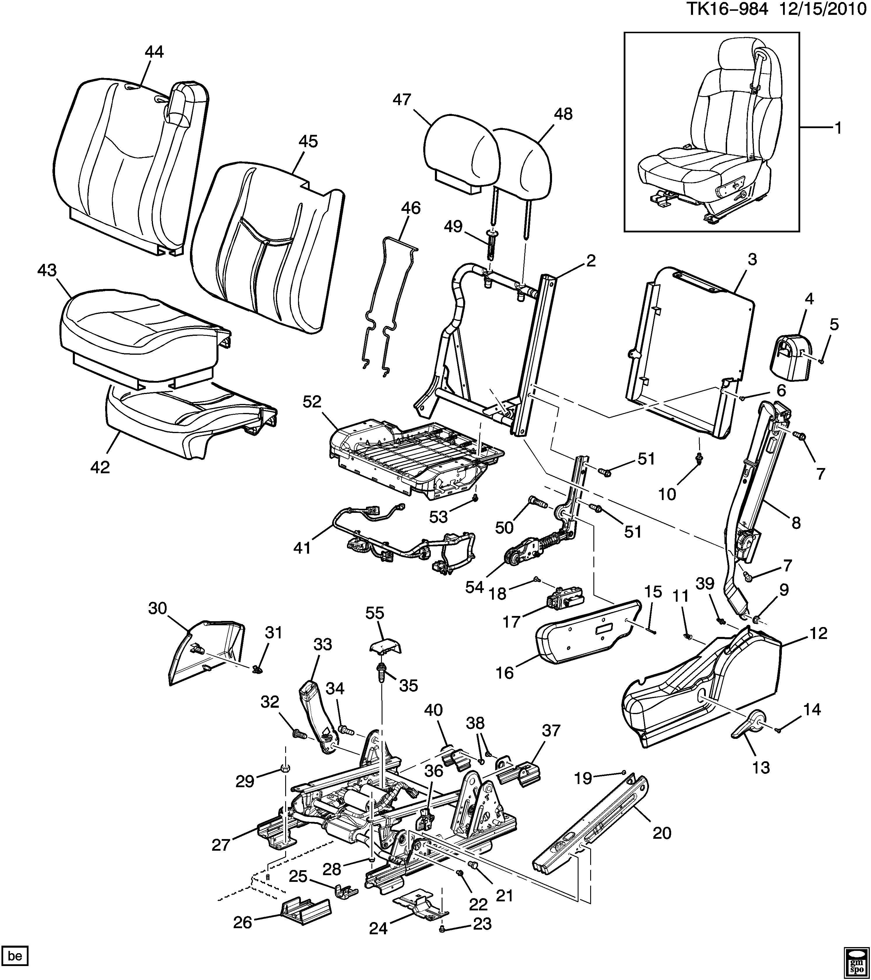 Chevrolet Silverado DRIVER SEAT/SPLIT BENCH
